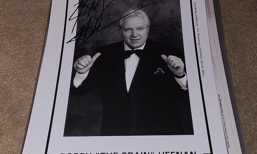 Bobby The Brain Heenan - WWF / WWE / WCW - Autographed 8×10