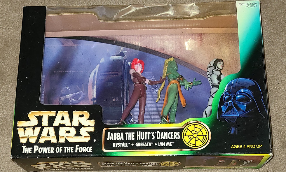 Star Wars : The Power Of The Force : Jabba The Hutt's Dancer's : Kenner 1998