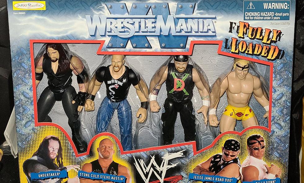 Wrestlemania 15 : Fully Loaded - Undertaker Austin Road Dog Billy Gunn - Jakks