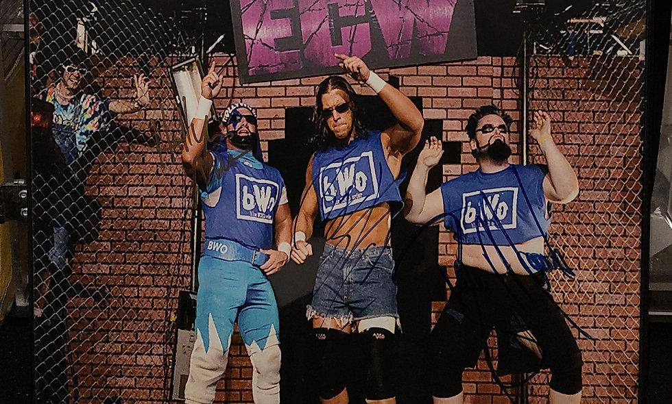 *Autographed - BWO (Stevie Richards, Nova, & Blue Meanie) Photo ECW WRESTLING
