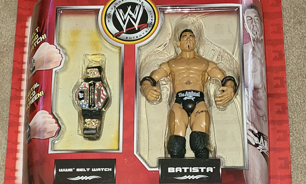 WWE : Smack Time : Batista & A Belt Watch - 2006 Jakks
