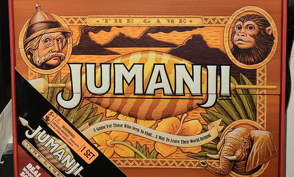 Jumanji : The Game - Real Wooden Box - Cardinal