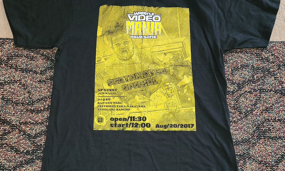 Jun Kasai T-Shirt : Wrestle Video Mania Gruesome : Large
