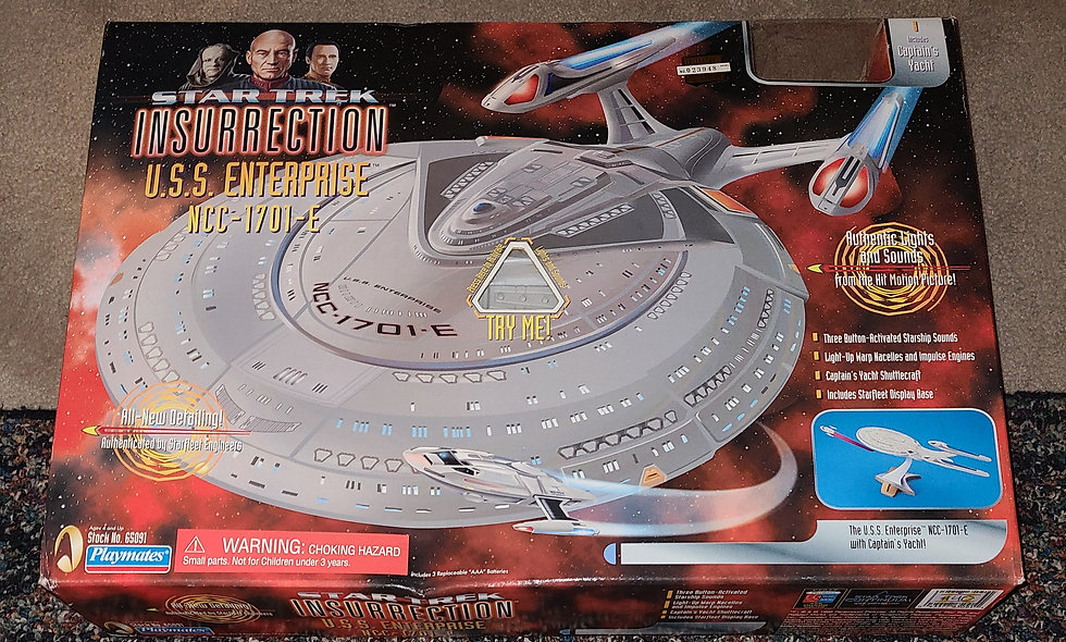 Star Trek : Insurrection - U.S.S. Enterprise NCC 1701 E - Playmates *Open Box