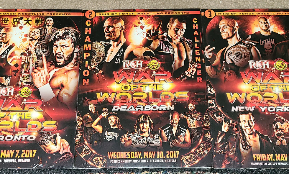 ROH -War Of The Worlds - 3 Nights - 5/7, 5/10, 5/12/2017 - Toronto,Dearborn,NYC