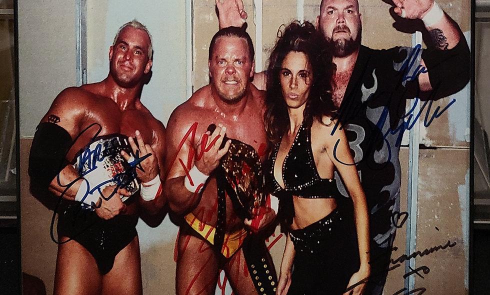 *Autographed - New Triple Threat(Candido, Douglas, Bigelow, Francine) ECW Promo