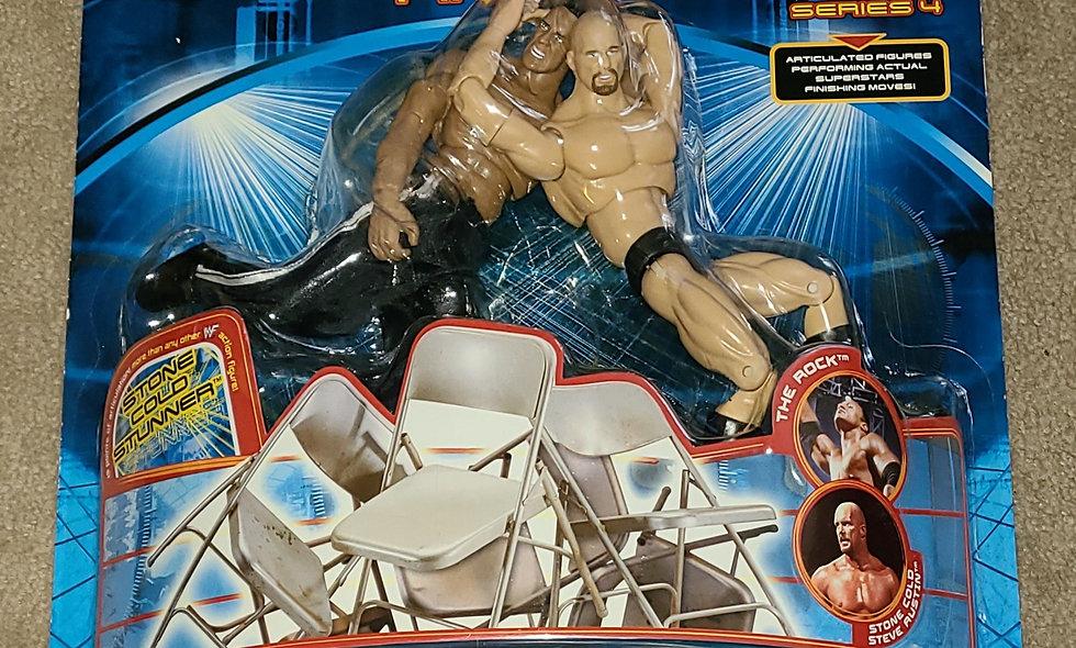 WWF : Finishing Moves : The Rock vs Steve Austin : Series 4 - 2001 Jakks
