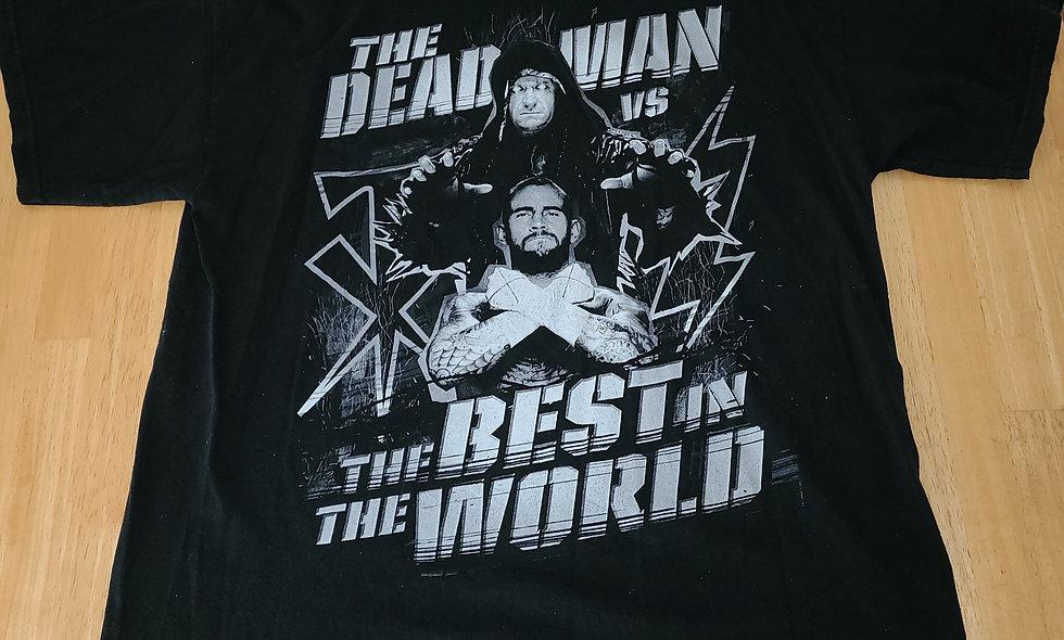 *Preowned  - Undertaker vs CM Punk Wrestlemania T-Shirt Size XL