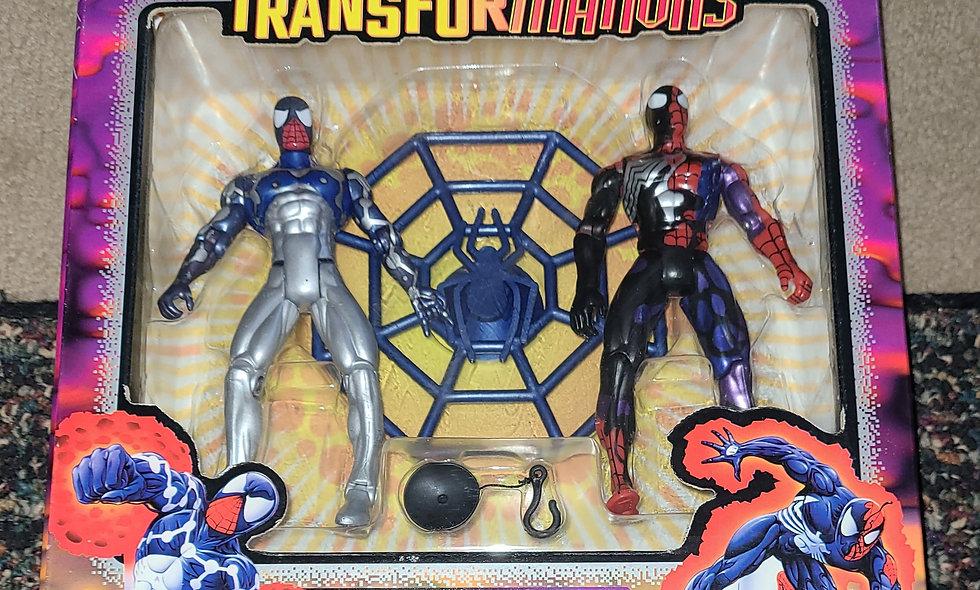 Spiderman - Strange Transformations - Cosmic & Transforming Symbiotic - ToyBiz