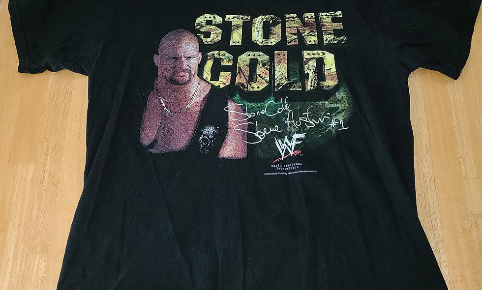 *Preowned  - Stone Cold Steve Austin (Camo) T-Shirt Size L