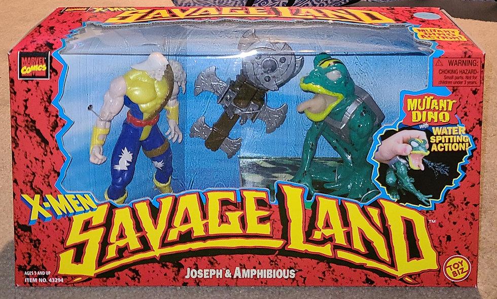 Joseph & Amphibious - Savage Land / Marvel - ToyBiz 1997