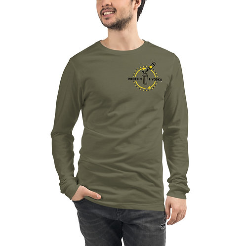 Protein & Vodka Long Sleeve - Military Green