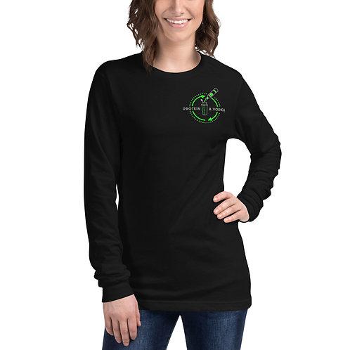 Protein & Vodka Long Sleeve Shirt - Green Machine