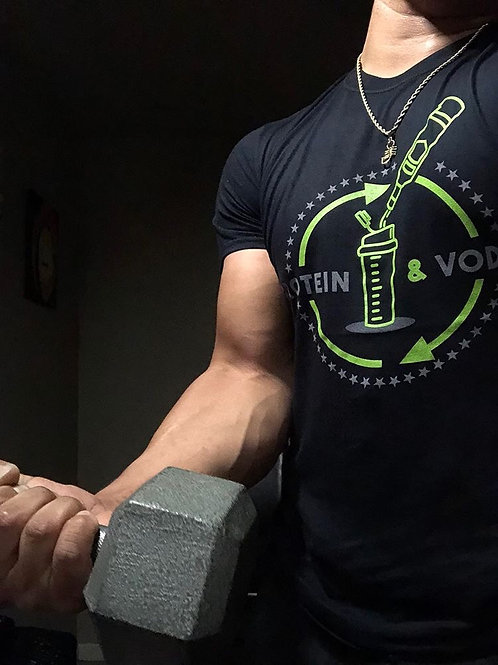 Protein & Vodka T-Shirt Unisex - Green Machine
