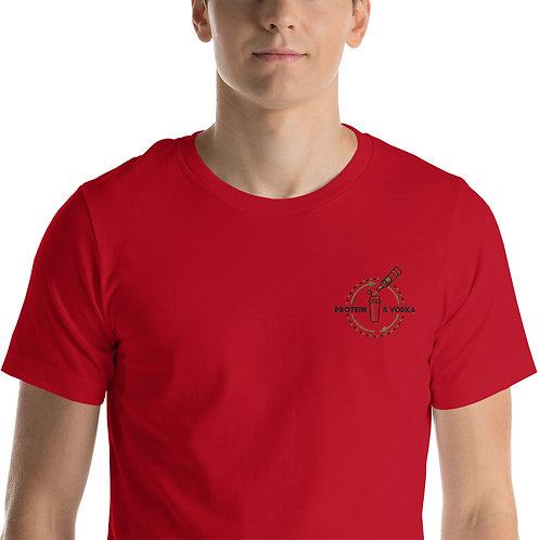 Protein & Vodka Unisex Embroidered T-Shirt
