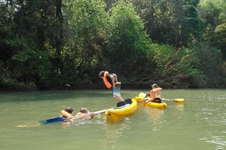 Jugando en el agua