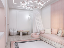 Спальня для девочки в проекте Детской квартиры