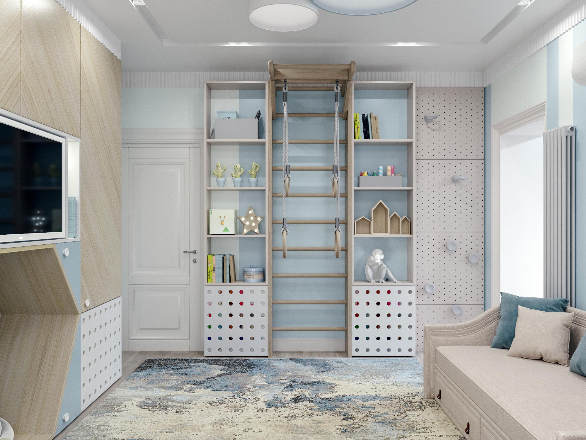 Спальня для мальчика в проекте Детской квартиры