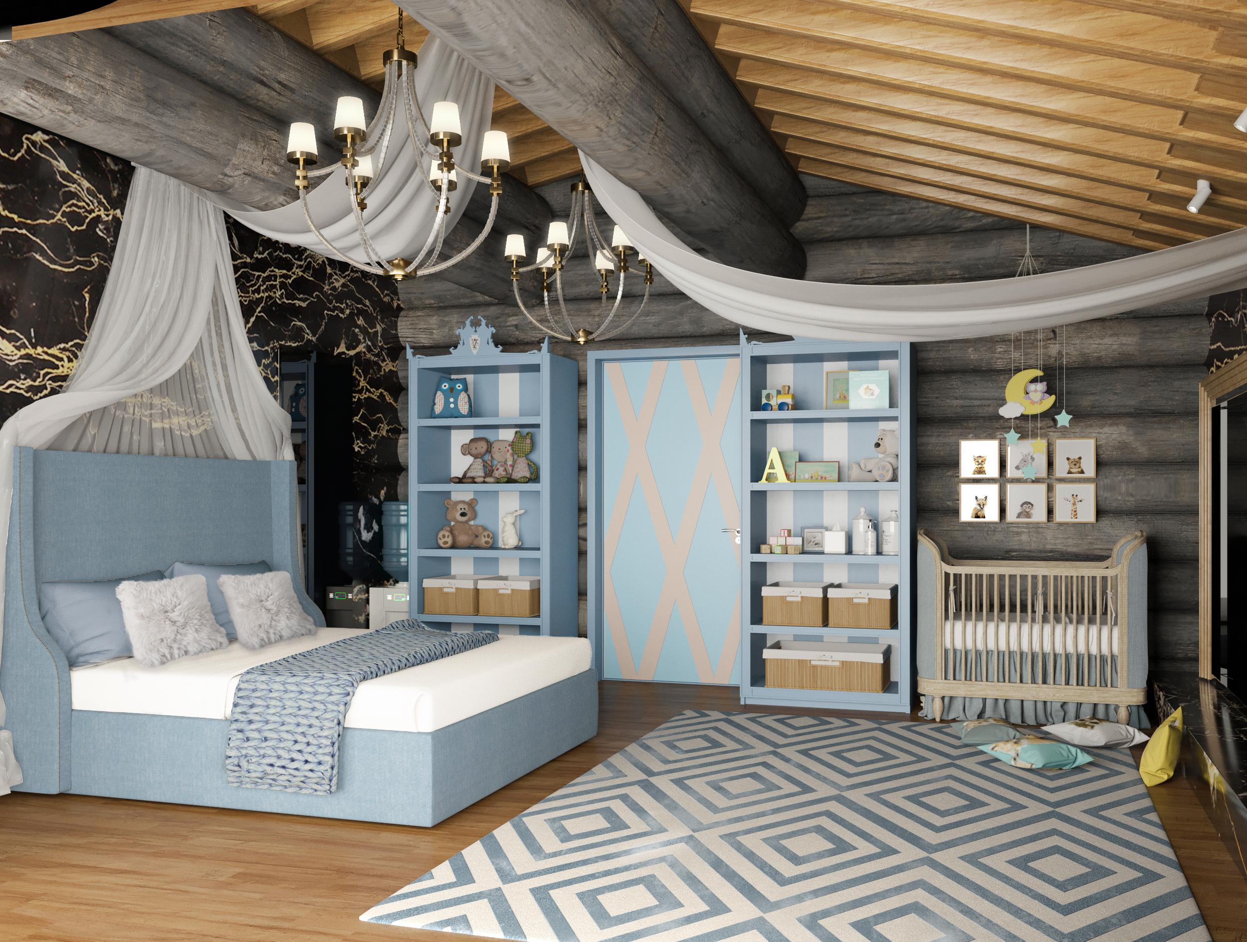 Спальня для няни с ребенком