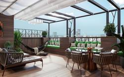 Терасса на крыше Апартаментов Парк Мира, год реализации 2020 г