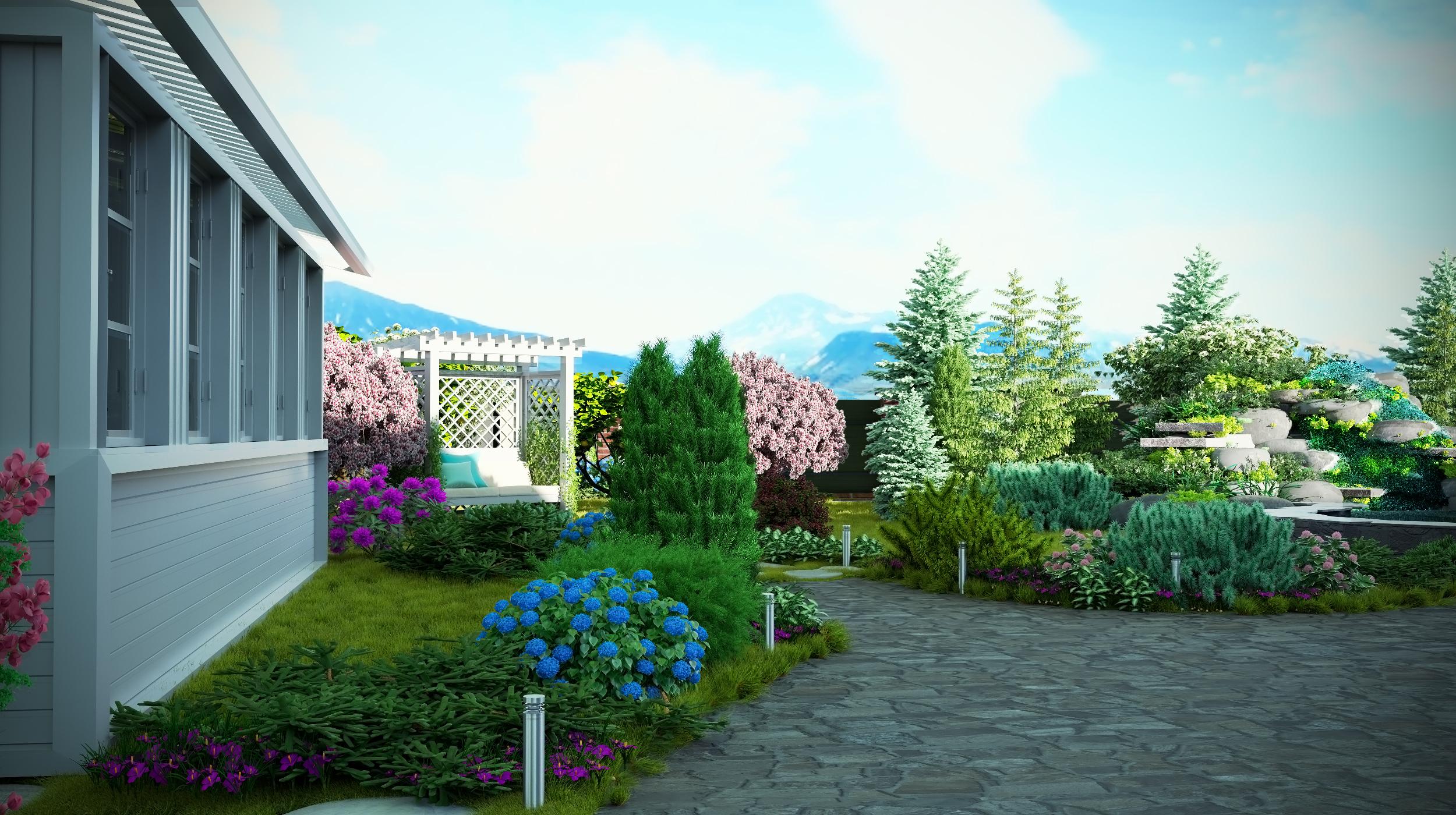 Ланшафтный дизайн дома