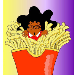 """French Fries"" 🍟 ©️Nik & Mike Cartoons"