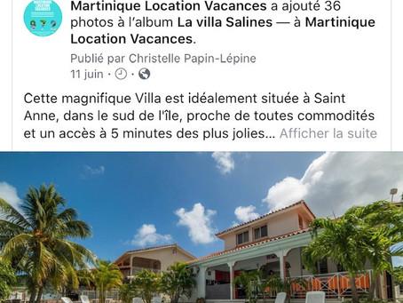 Promo première semaine de décembre 2019 à villa Salines et Paradis