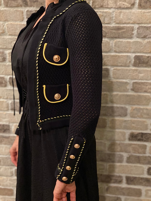 BLACK KNITTED CLASSIC JACKET