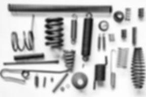 spręzyny naciągowe, naciskowe, stozkowe, ramieniowe, kształtowe