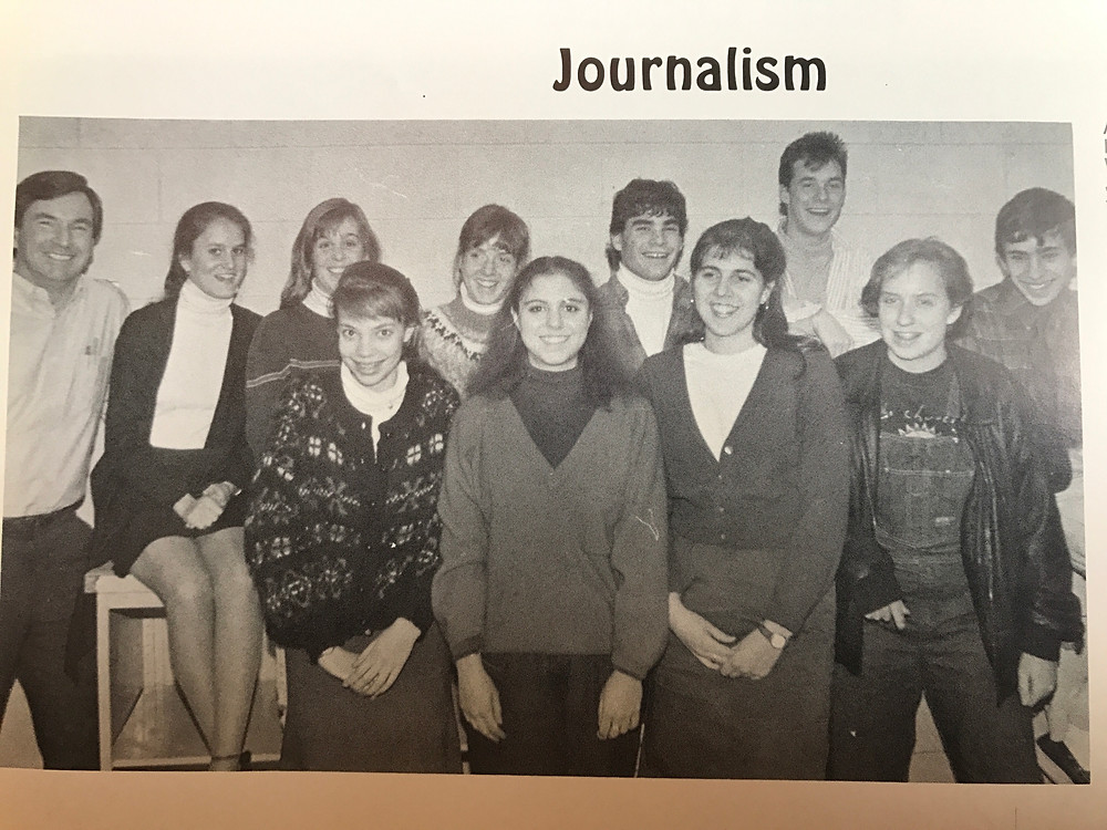 high school yearbook: journalism club