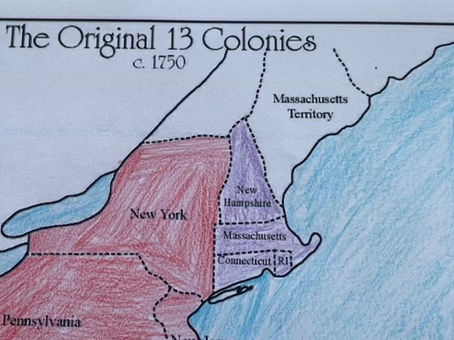 Timeline for the 13 Colonies
