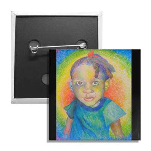 Rainbow Baby 2 Inch Button