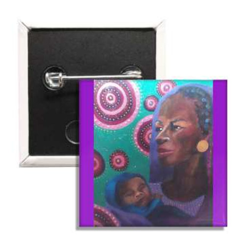 Clothed In Purple 2 Inch Button