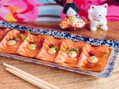 Tiradito de salmón