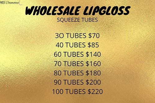 WHOLESALE LIP GLOSS SQUEEZE TUBE