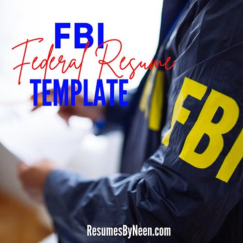 FBI Federal Resume Template