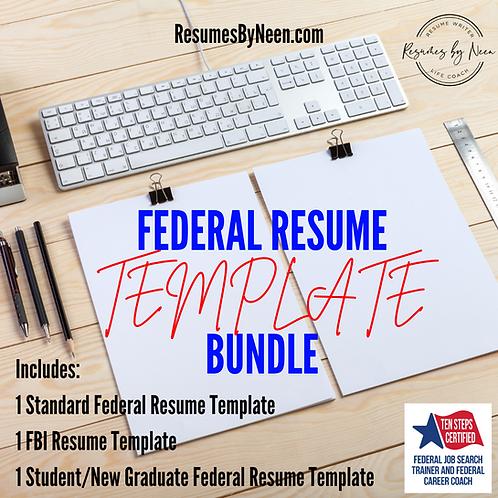 Federal Resume Template BUNDLE
