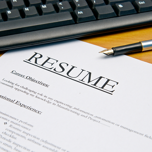 Private Sector Resume Basic Template