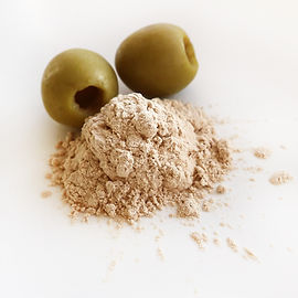 Olive stone cosmetic base powder