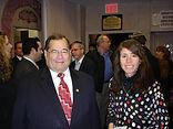 Chaya Lipschutz with  Congressman Gerald Nadler at Breakfast for Spitzer, Brooklyn, NY - O