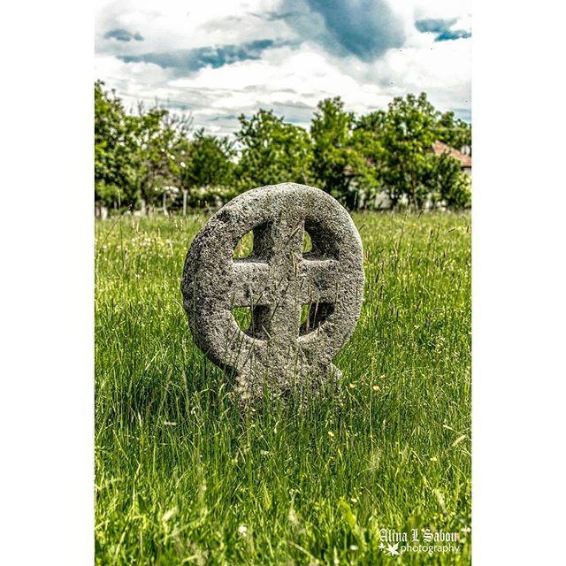 A Celtic Cross in  village of Arinis, Maramure County, Romania
