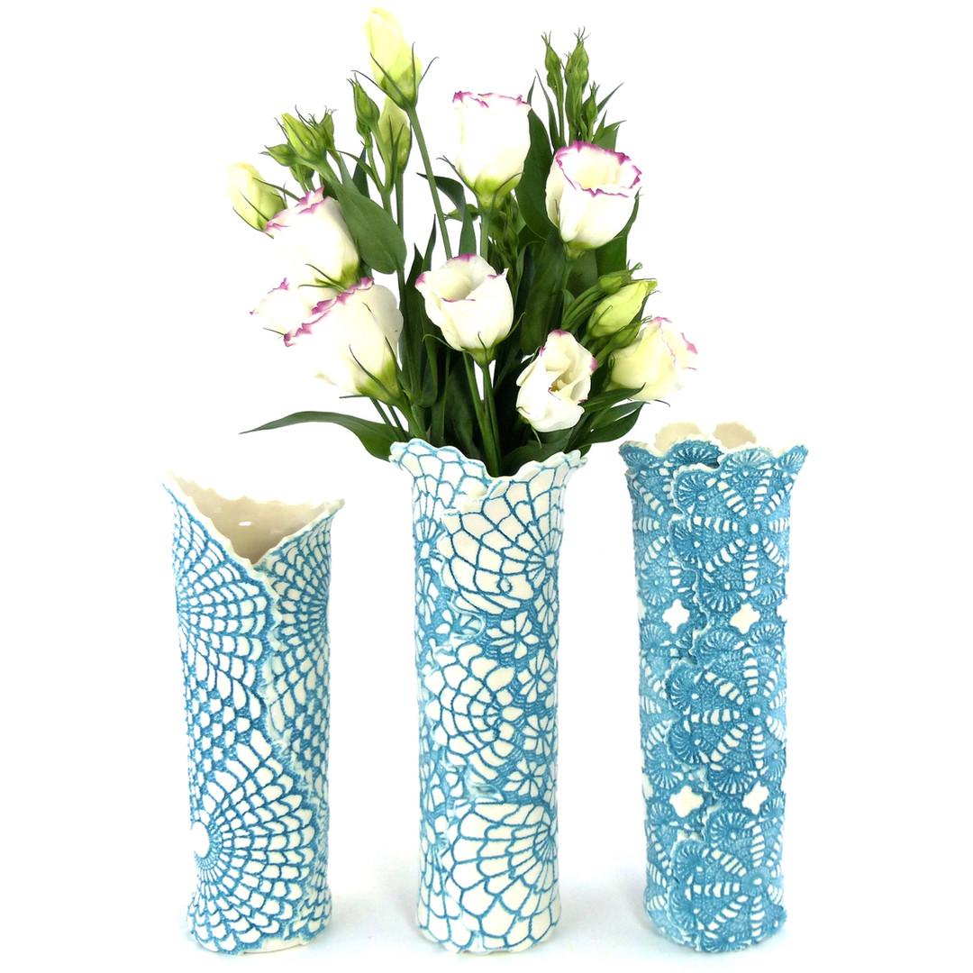 Tara Jane Ceramics  Blue Vases.JPG