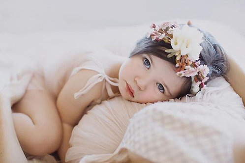 The Finley PomPom Floral Crown