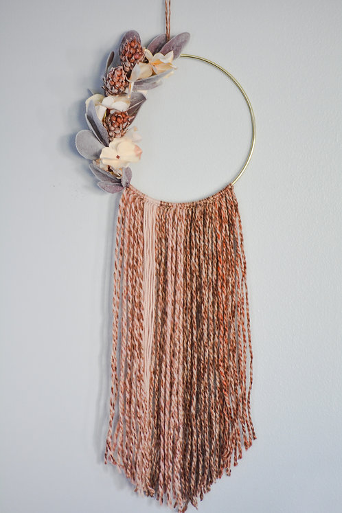 Pinecone Flower Wall Hanging