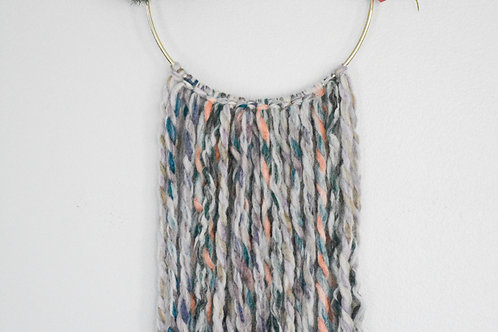 Blue Hues Floral Wall Hanging