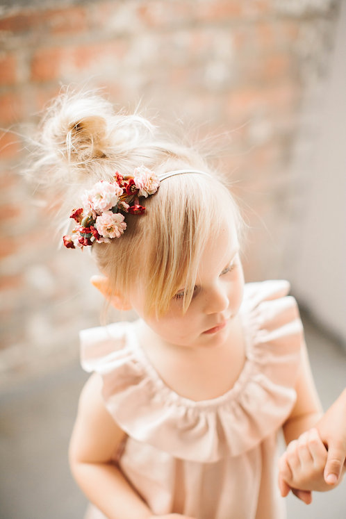 Blush and Cranberry Flower Crown
