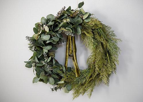 Eucalyptus & Cypress Winter Wreath