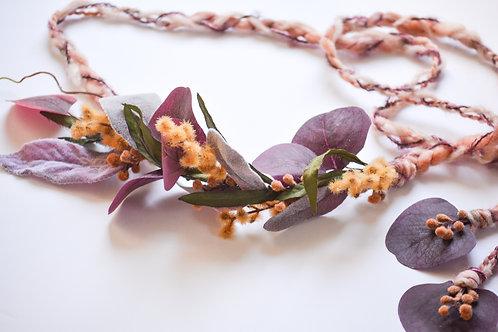 Burgundy Fields Flower Crown