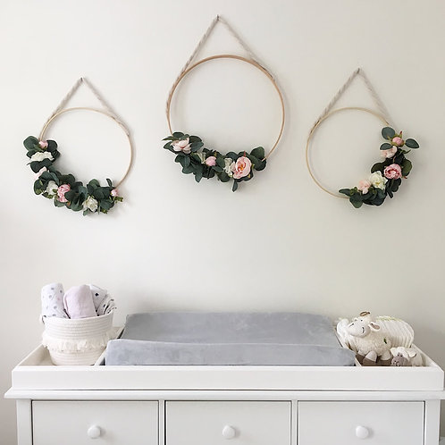 Floral Wall Hoops
