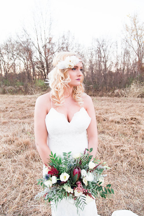 The Lovely Feathered Halo Wreath